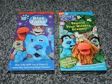 LOT 2 NEW SEALED VINTAGE NICK JR. BLUES ROOM & BLUES CLUES VHS TAPES BLUE TALKS