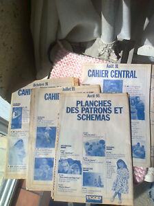 lot 4 patrons + explication couture  poupée Cécile MODES ET TRAVAUX - 1991 -