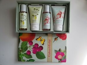 Crabtree & Evelyn Citron & Pomegranate 4-Piece Sampler (1.7 oz each) New in Box