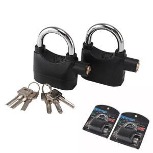 2XSecurity Motorbike Anti Theft Alarm Lock Motion Sensor Bike Padlock Waterproof