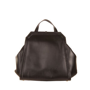 RRP €705 MARIA LAMANNA. Leather Backpack Black Tassel Charm HANDMADE in Italy