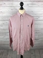 RALPH LAUREN YARMOUTH Shirt - 16 - Striped - Great Condition - Men's