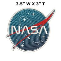 NASA Vector Space Logo Embroidered Patch Iron-on / Sew-on Badge Emblem Applique