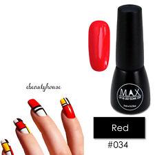 MAX 7ml Nail Art Color UV LED Lamp Soak Off Gel Polish #034-Red