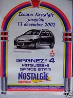 PUBLICITÉ 2002 NOSTALGIE LA LÉGENDE GAGNEZ UNE MITSUBISHI - ADVERTISING