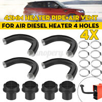 4x 42mm Heater Duct Pipe Tube+Ducting Air Vent For Air Diesel Heater 4 Holes Car
