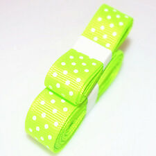 """3yds 5/8""""(15 mm) Fluorescent colors Ribbon Printed lovely Dots Grosgrain"""