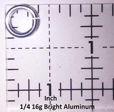 """500 1/4 """" 16g Bright Aluminum JUMP RINGS SAW CUT Chainmail chain mail"""