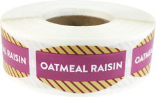 Oatmeal Raisin Grocery Market Stickers, 0.75 x 1.375 Inches, 500 Labels Total