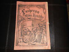 LUTHERAN HOME MONTHLY August 1874 Christianity Vol 1 No 8 VERY RARE Sermons