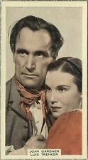 Joan Gardner + Luis Trenker 1939 A & M Wix Film Favourites Tobacco Card #27