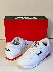 New FILA Machu Womens Shoes Red/White/Blu Casual Retro Classic Sneakers  8.5 NIB