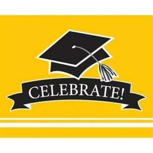 School Spirit Invitations Yellow 25 Pack Paper Grad Party Invites Party Supplies