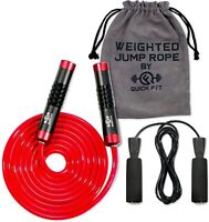 Jump Rope Set of 2 Weighted & Standard Skipping Cords Fun Exercise Burn Calories