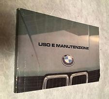 LIBRETTO USO E MANUTENZIONE BMW 518 520L 525L 528L 1983