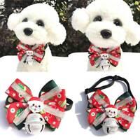 New Christmas Pet Puppy Dog Cat Bowtie&Bow Tie Adjustable Dog Collar Pet Supplie
