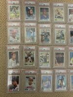 Lot Of 30 1982 Topps PSA 8 & 9s HOF ALL STARS YANKEES
