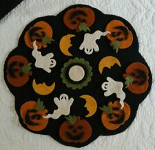 pRiMiTiVe Wool Felt Die Cut Shapes~Penny Rug~Jacks and Ghosts~Halloween~Fall