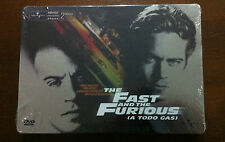 A TODO GAS - THE FAST AND THE FURIOUS 1 - ED COLECCIONISTA 2 DVD STEELBOOK - NEW