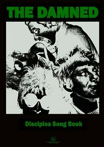 """Reproduction Alternate """"The Damned - Disciples Song Book"""" Poster, Punk, Size A2"""