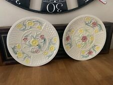 More details for pair of hand painted jacobean pattern charger plates by h j wood