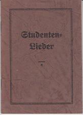 Studenten-Lieder Kommsersbuch Studentika Druck Liedgut Gesang Musik Oldenburg