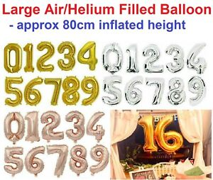 65cm - 80cm Giant Number Foil Balloons Large Foil Birthday Party Decoration Gift