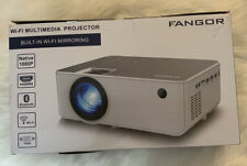 New listing Hd Projector WiFi Hdmi 1080p Fangor F-506 Bundle remote cords tripod