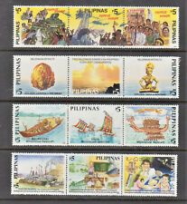 Philippine Stamps 2000 Millennium Series 1 to 4 Complete sets MNH