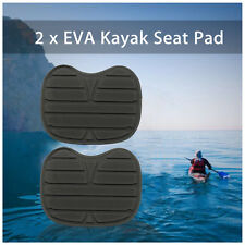 2 Black Comfortable Soft Padded Seat Cushion For Kayak Canoe Fishing Drift Boat