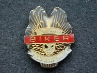 VINTAGE METAL PIN  MOTORCYCLE IF YOU AIN TA BIKER YOU AIN'T SH*T