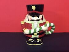 Nutcracker Soldier Mug With Hat Lid And Christmas Candycane By Designpac