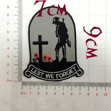 Quality Iron/Sew on Lest we forget ANZAC Biker  remembrance day diggers patch