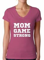 Mom Game Strong Cute V-neck T shirts Shirts Tops  Mom Life Gifts for Her