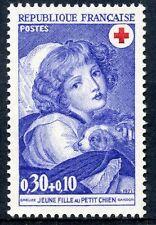 STAMP / TIMBRE FRANCE NEUF N° 1700 ** CROIX ROUGE JEUNE FILLE AU PETIT CHIEN