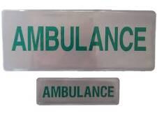 AMBULANCE Mid Size Reflective Badge SET Medic Paramedic Student EMT