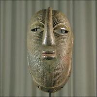 58660) Afrikanische Luba Holz Maske Kongo Afrika KUNST