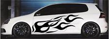 "Flame Auto Graphics decal large flaming body car truck vinyl flames 23""x 48"" v1"