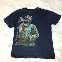 Everyday Struggle Men's Size Medium T-Shirt Biggie Smalls Coogi Sweater King Cat