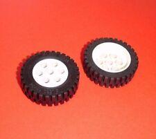 Lego (2695c01) 2 Reifen 13x24 mit Felge in weiß aus 8872 8094 5550 5540 5510
