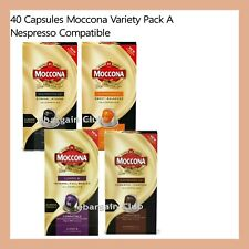 40 Capsules Moccona Coffee Pod Variety Pack A Nespresso Compatible