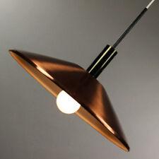 Honsel Kupfer Schirm Pendel Lampe alte Vintage Leuchte 60er Jahre Copper Pendant