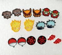 Naruto Kakashi metal earring ear stud earrings anime Ear Ring 8 pairs