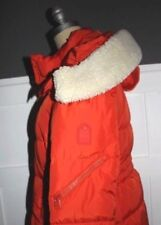 NWT $550 COACH Size L Womens L/S Vermillion Quilted Down ICON Hood Puffer Jacket