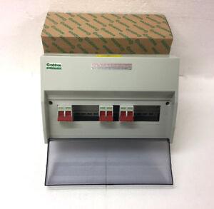 CRABTREE 409/242124B -15 Mod Enclosure Fitted With 3 100/M12 Isolator & Bushbar
