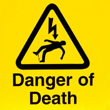 Fridge Magnet – DANGER OF DEATH (Funny Warning Sign Comedy Caution Electrocution