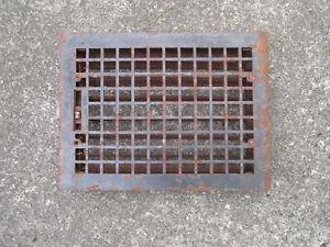 Floor Grate Antique Architectural Salvage Metal Vent Louvers Work Squares