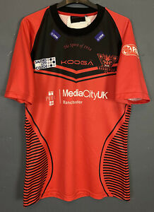 MEN KOOGA RUGBY LEAGUE SALFORD RED DEVILS 2014 HOME SHIRT JERSEY MAILLOT SIZE XL