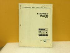 Hp / Agilent 08601-90012 8601A Generator / Sweeper Operating + Service Manual