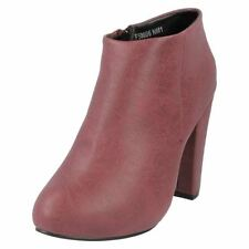 Calzado de mujer Botines color principal rojo sintético